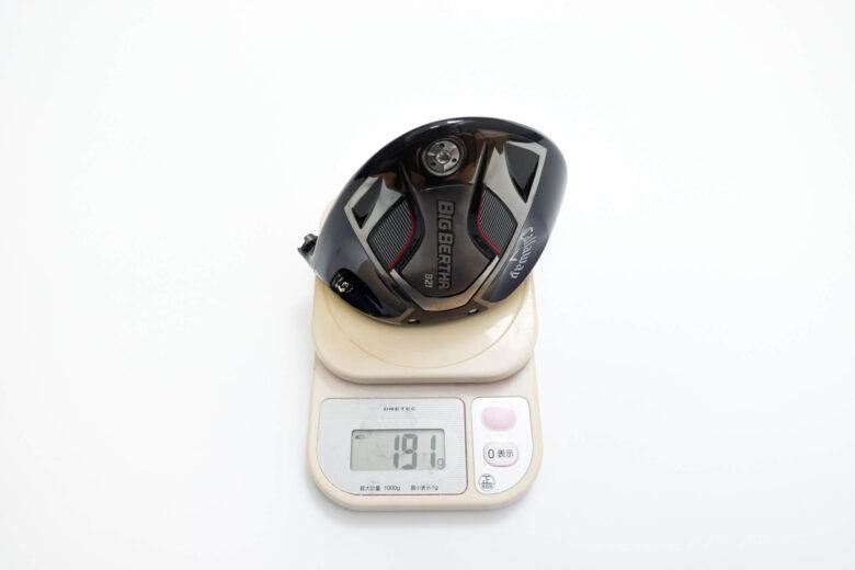 USモデルヘッド重量