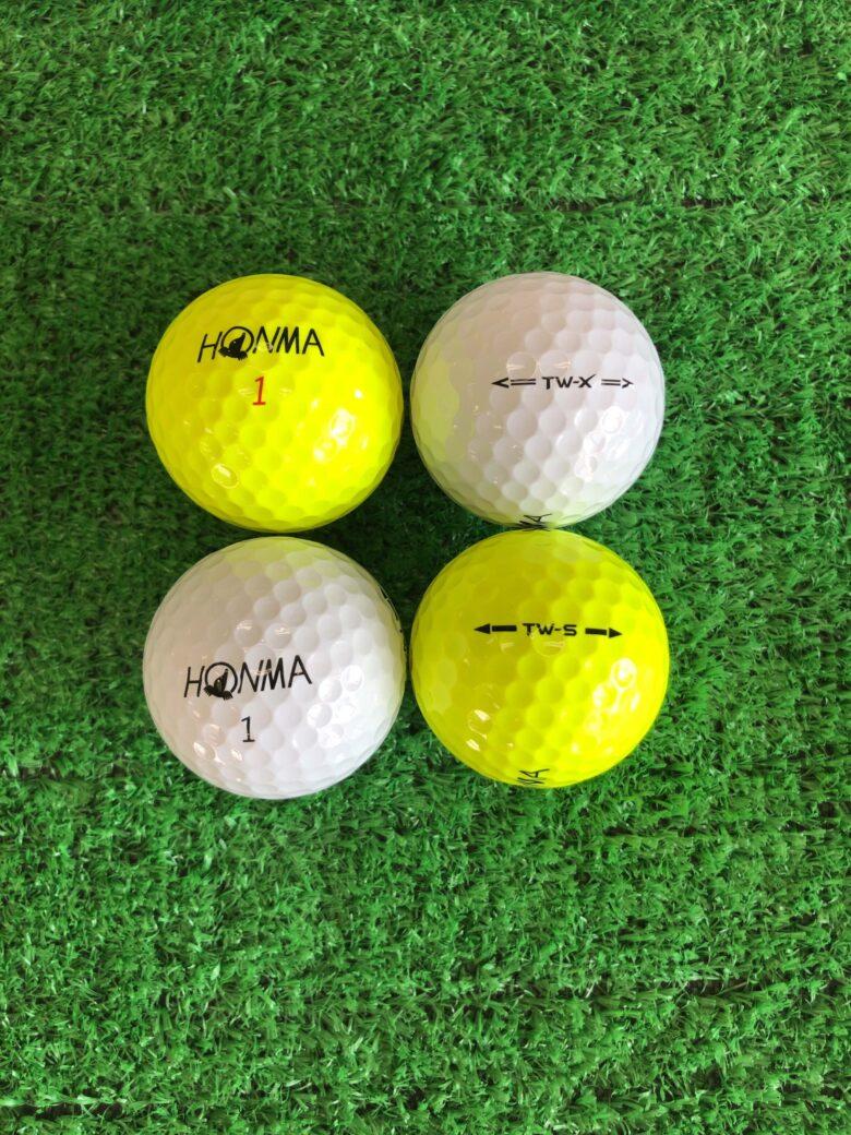 本間ゴルフTW-S・TW-Xのボール画像