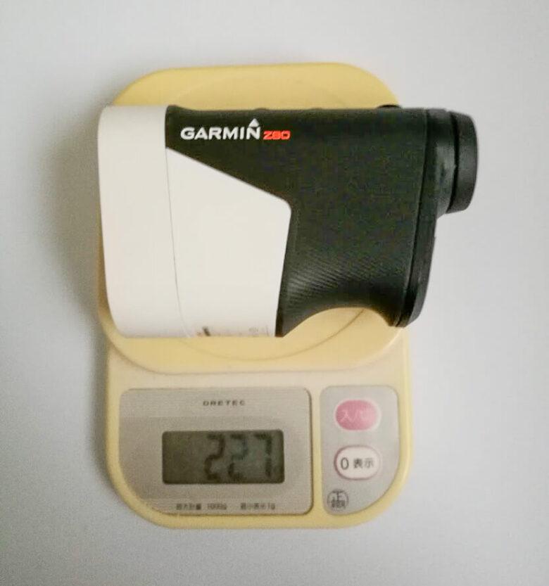 ガーミンZ80の重量