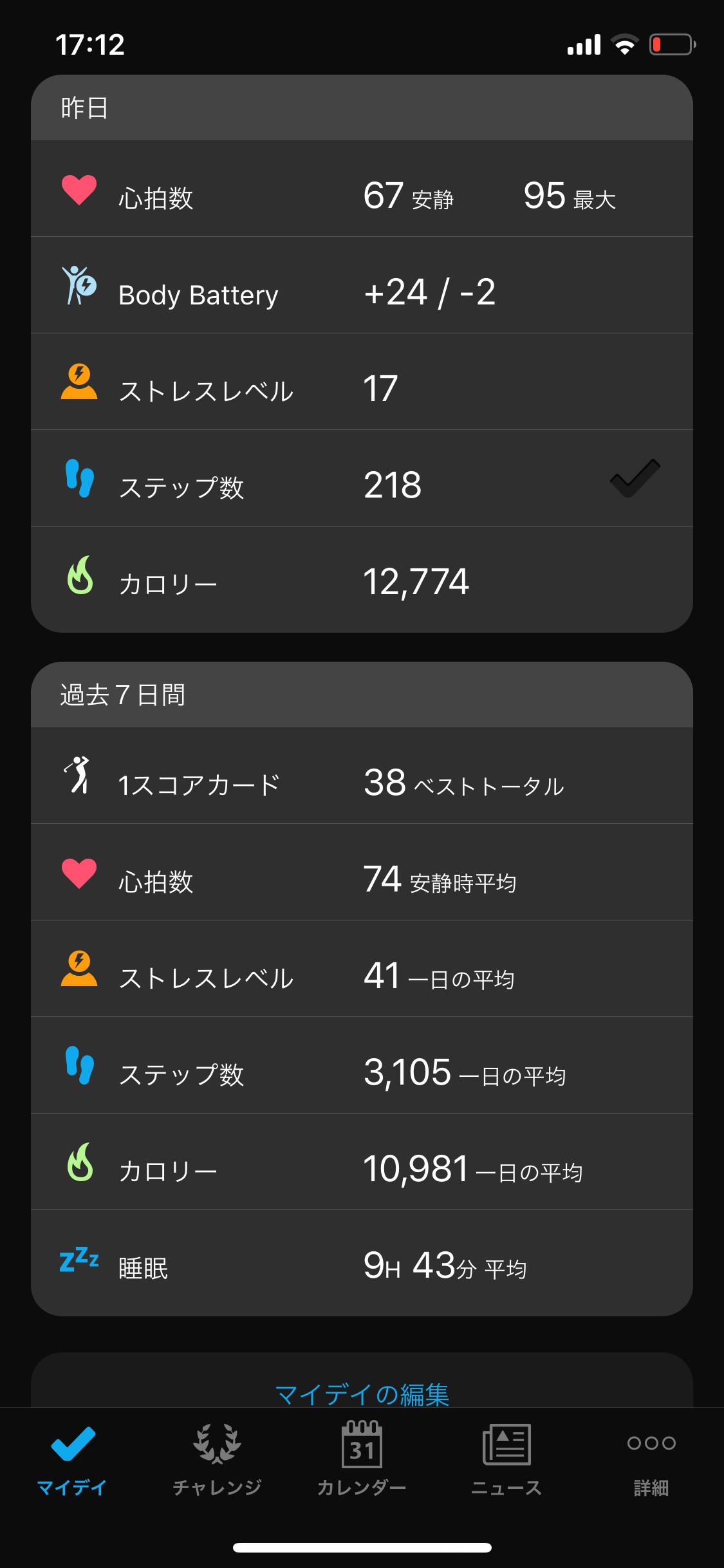 ガーミンコネクト③