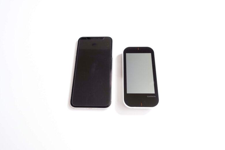 ガーミンApproach G80とiphonexサイズ比較