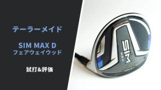 SIM MAX Dフェアウェイウッド試打&評価