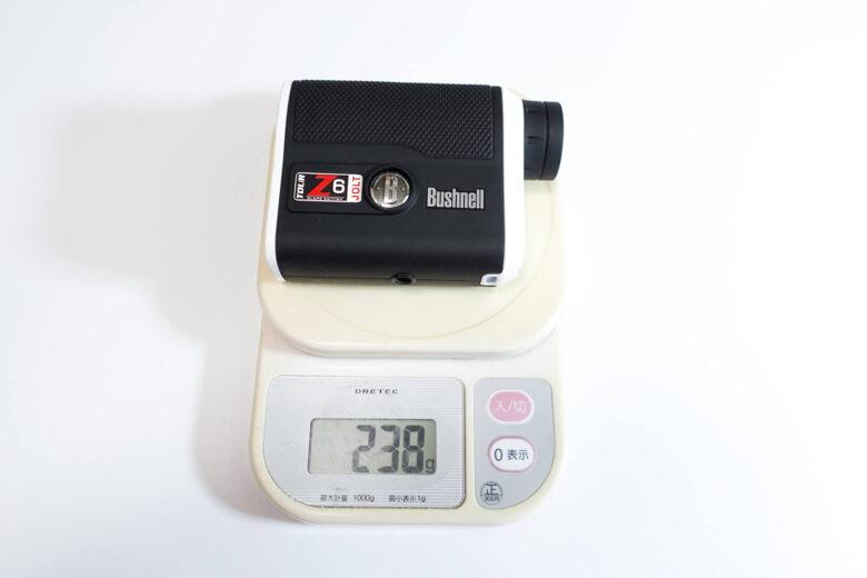 ブッシュネル ツアーZ6 JOLT重量