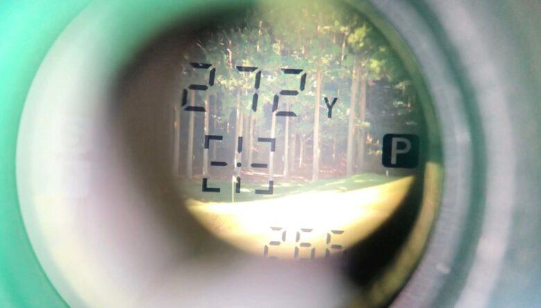 GB LASER lite272yd測定(ピンモード)