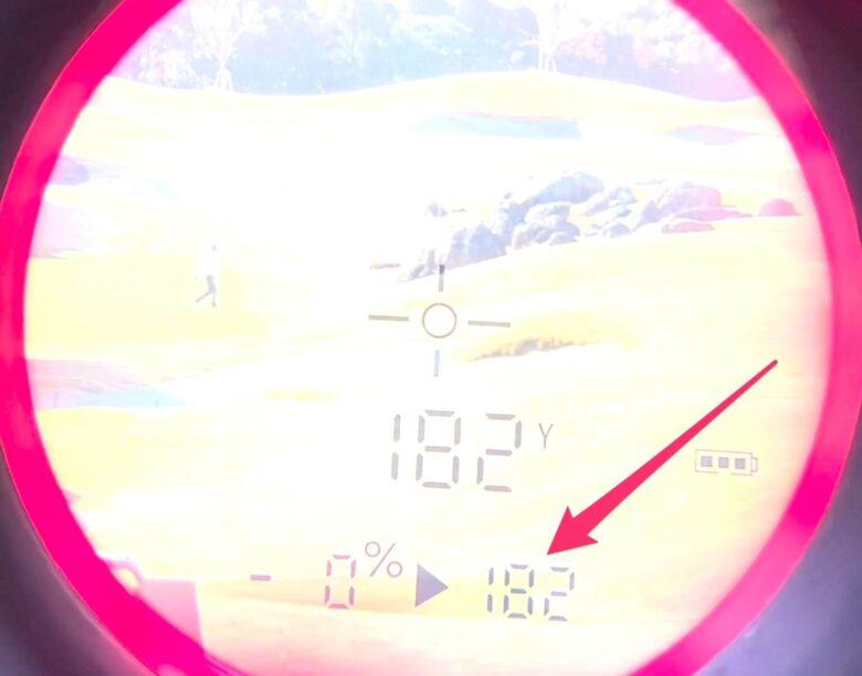 イーグルビジョンWATCH ACEレーザー距離計と比較②