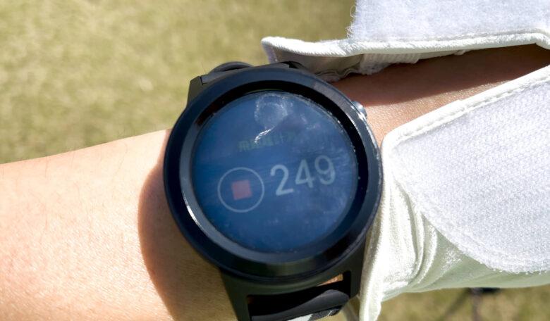 ゴルフバディaim w11飛距離計測