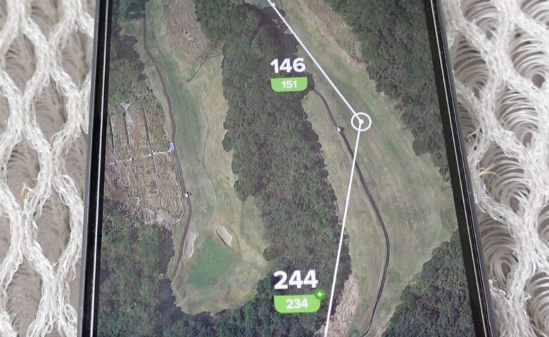 プレシジョンプロゴルフ3点間距離表示