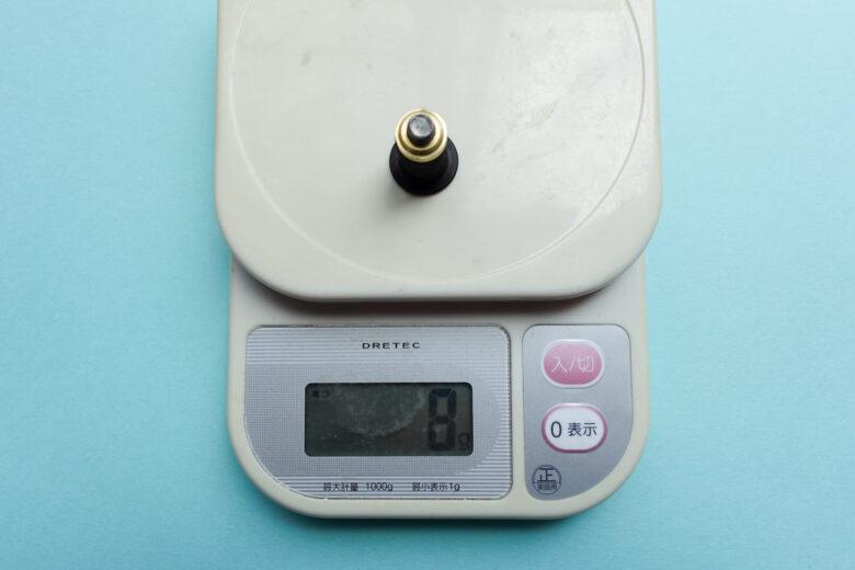 ツアーロックプロ8gウェイトの重量